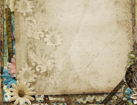 طرح بکگراند و تکسچر کاغذ و گل های قدیمی سنتی