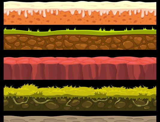 وکتور بکگراند و تکسچر زمین دو بعدی برای بازی سازی