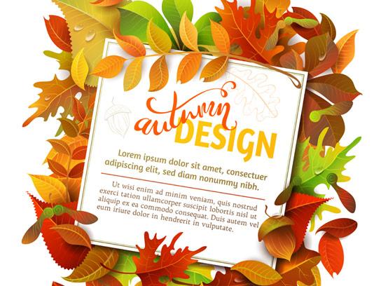وکتور طرح بنر جشنواره فروش پاییزی با برگ های زرد و نارنجی