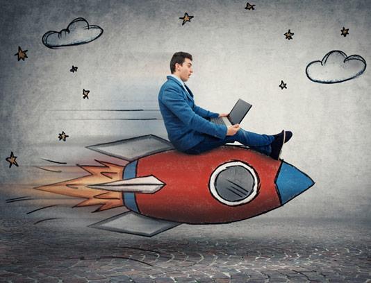 عکس با کیفیت مفهومی سرعت اینترنت و کسب و کار
