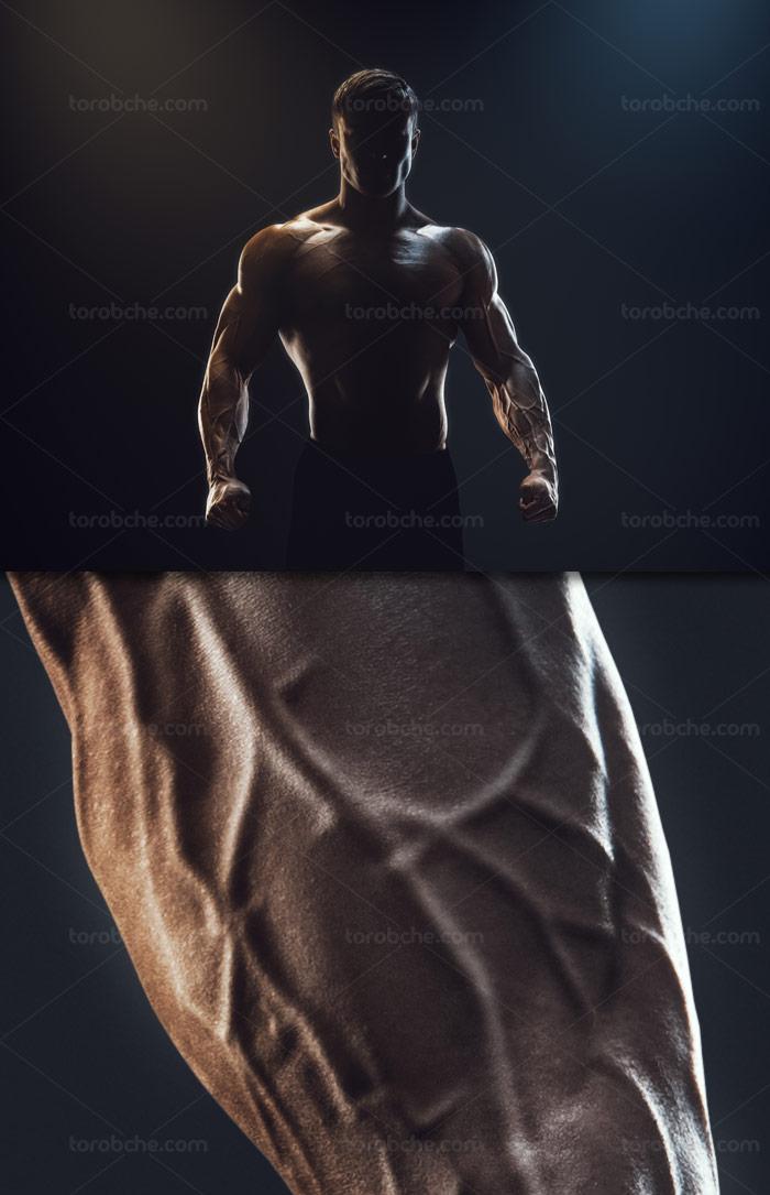عکس با کیفیت بدنسازی و فیتنس با زمینه تیره