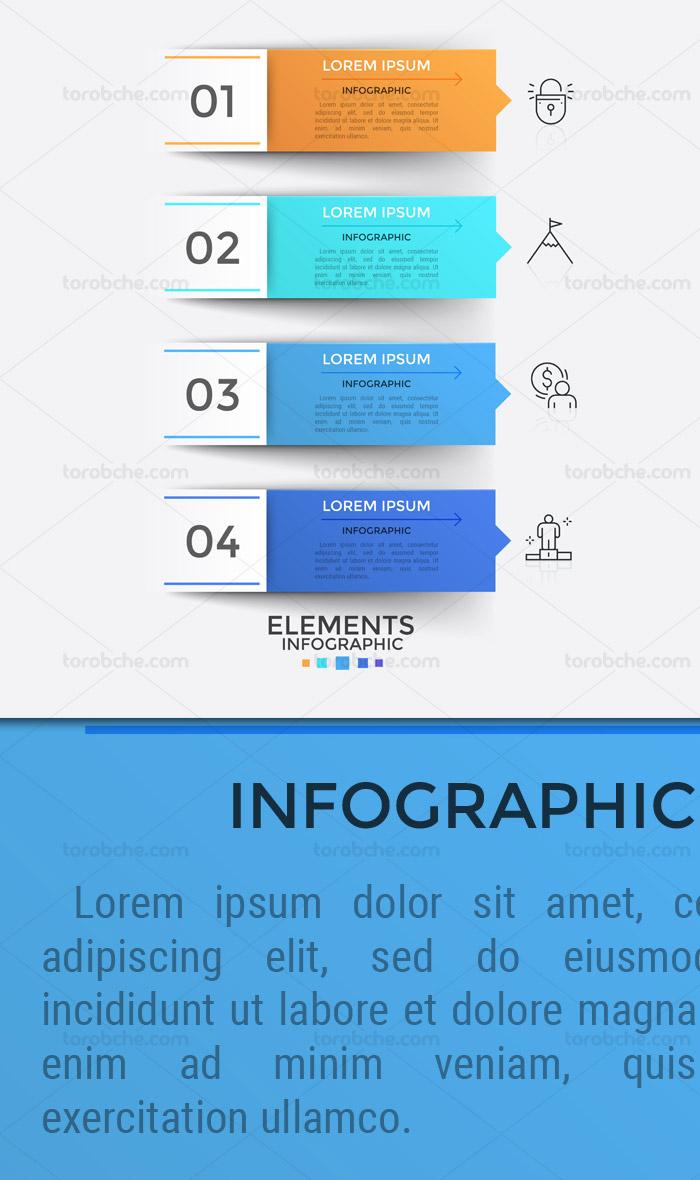 طرح لایه باز المان طراحی اینفوگرافیک توضیحات متنی