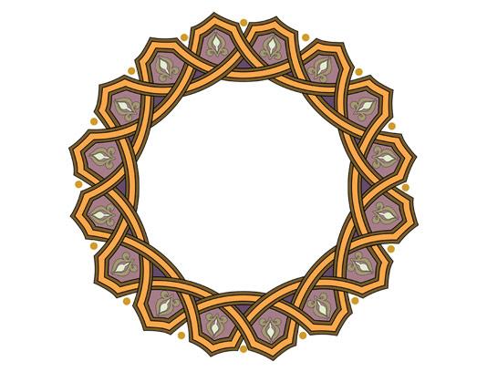 وکتور طرح نماد و المان اسلامی شمسه شماره ۸۱