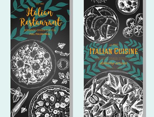 وکتور بنر رستوران ایتالیایی کلاسیک