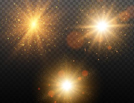 وکتور افکت نور بدون پس زمینه شماره ۳۴