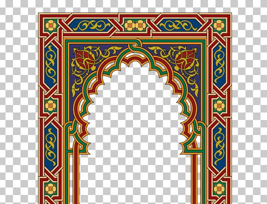وکتور طرح اسلیمی محراب مسجد