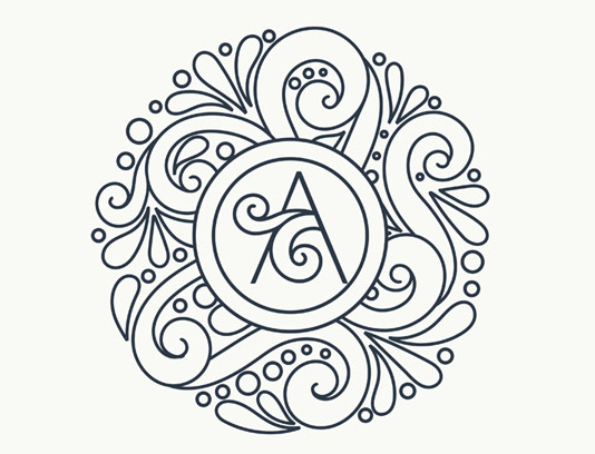 وکتور طرح لوگوی مونوگرام لاکچری شماره ۳۴