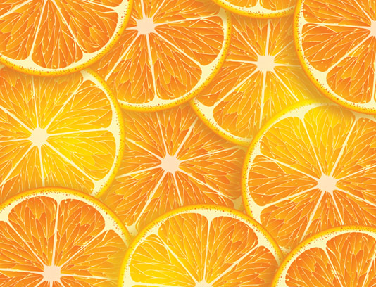 وکتور بکگراند پرتقال به صورت پترن