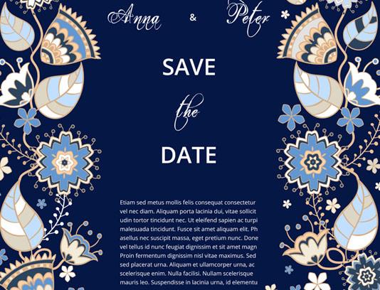 وکتور طرح کادر و حاشیه کارت دعوت عروسی