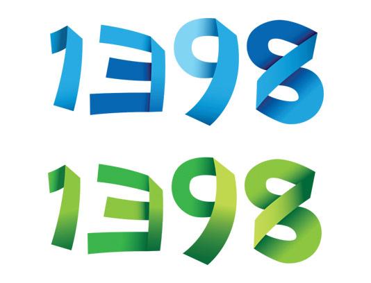 وکتور تقویم سال 1398 در 2 رنگ سبز و آبی