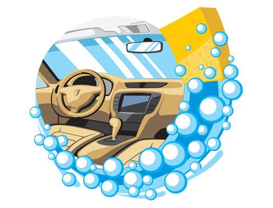 وکتور کارواش خودرو مناسب طراحی لوگو