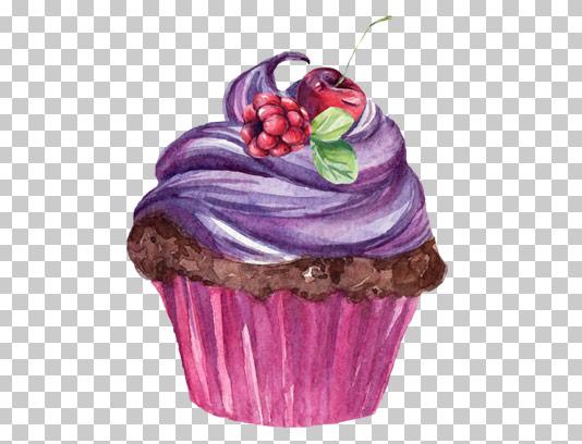 عکس دوربری شده کاپ کیک تمشکی