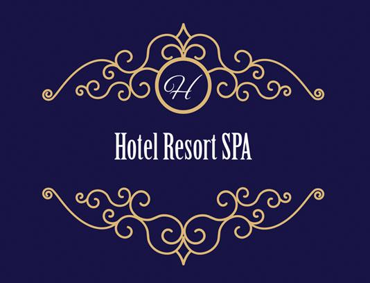 وکتور طرح لوگوی مونوگرام لاکچری هتل