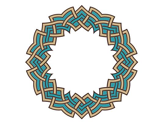 وکتور طرح نماد و المان اسلامی شمسه شماره ۸۶