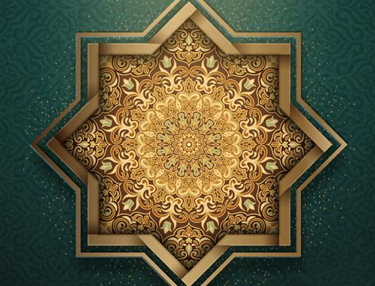 وکتور طرح نماد و المان اسلامی شماره ۸۵