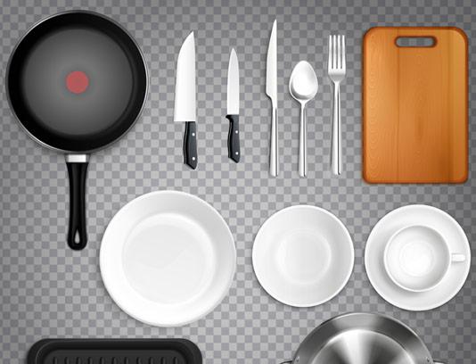 وکتور مجموعه لوازم و ظروف آشپزخانه