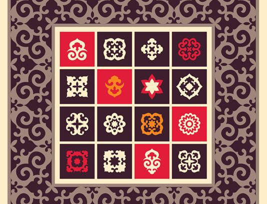 وکتور نماد و المان های سنتی قدیمی