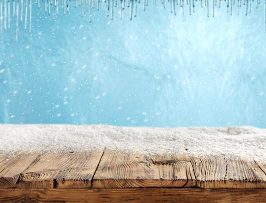 بک گراند چوب پوشیده شده با برف و یخ