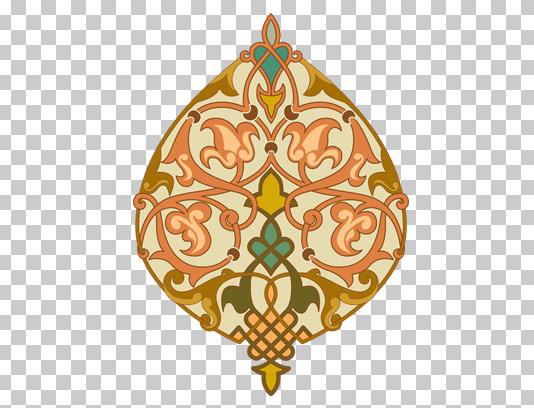 طرح دوربری شده المان و نماد اسلامی PNG