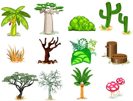 وکتور درخت و گیاه در انواع گوناگون