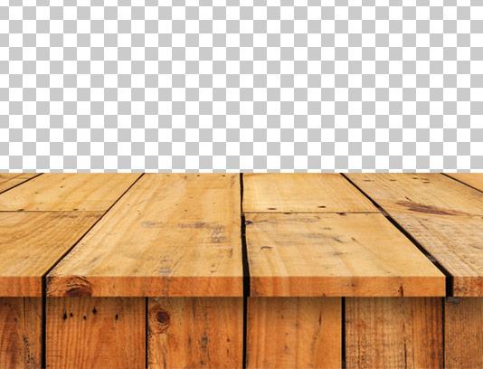 عکس میز چوبی دوربری شده با PNG