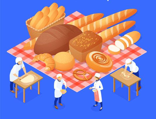 وکتور طرح خلاقانه نانوایی