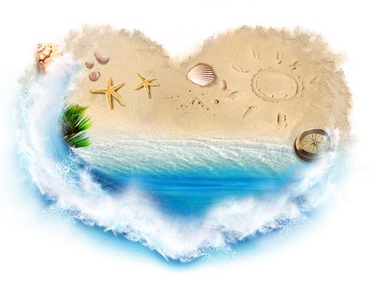 عکس با کیفیت ساحل شنی دریا