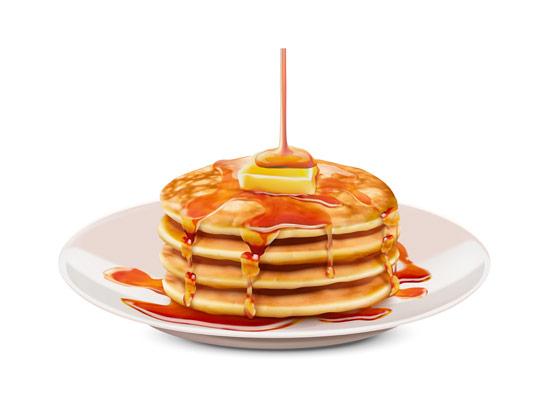 وکتور پنکیک صبحانه خوشمزه