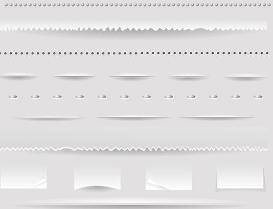 وکتور المان های جداکننده کاغذی