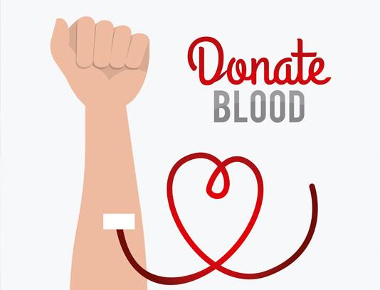 وکتور اهدای خون با المان دست