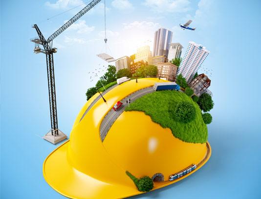 عکس مفهومی روز جهانی مهندس با المان کلاه ایمنی