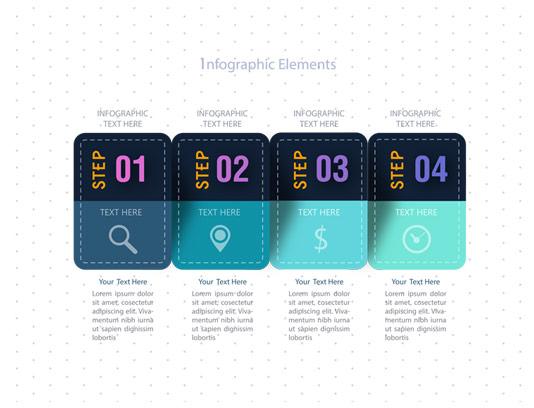 وکتور المان اینفوگرافیک چهار مرحله ای