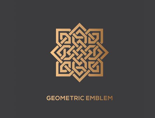 وکتور لوگوی هندسی طلایی