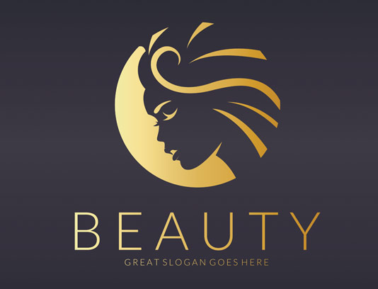 لوگوی سالن زیبایی و آرایشی بانوان طلایی