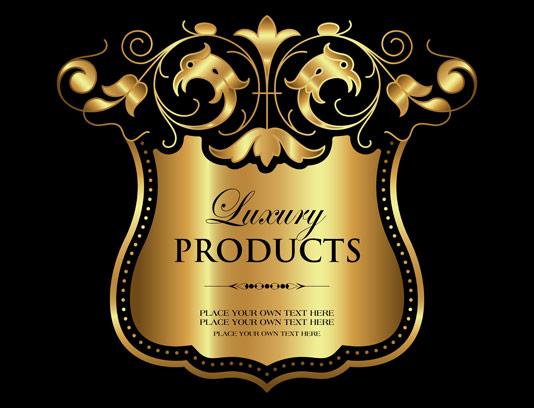 وکتور طرح لوگوی محصولات لاکچری