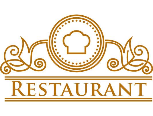 وکتور طرح لوگوی رستوران با کاراکتر سرآشپز