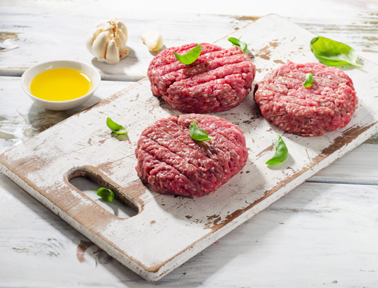 عکس همبرگر با گوشت چرخ کرده