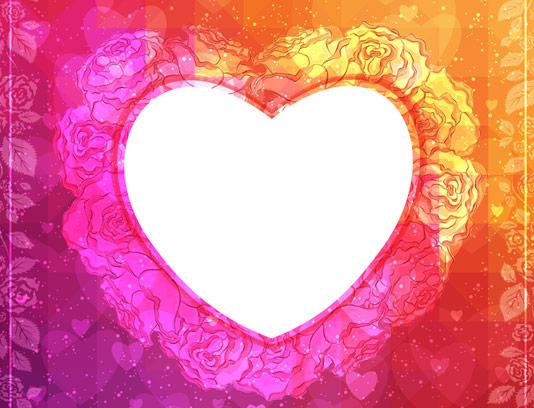 وکتور بک گراند عاشقانه قلب