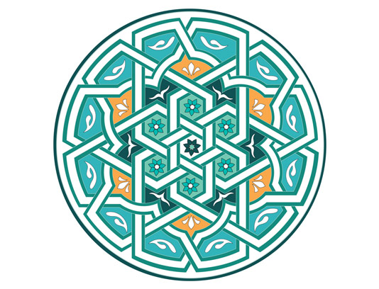 وکتور اسلیمی نماد و المان شمسه