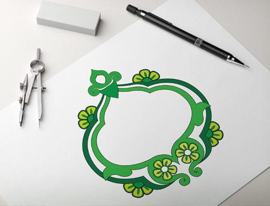 وکتور المان و نماد عربی اسلامی سبز