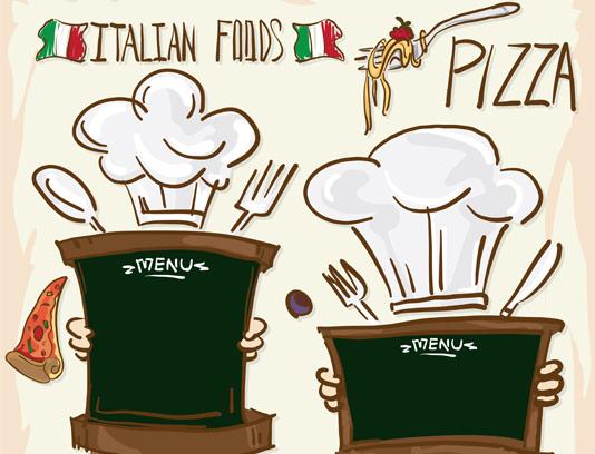 وکتور غذا و پیتزای ایتالیایی