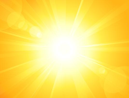 وکتور پرتو نور با بکگراند زرد