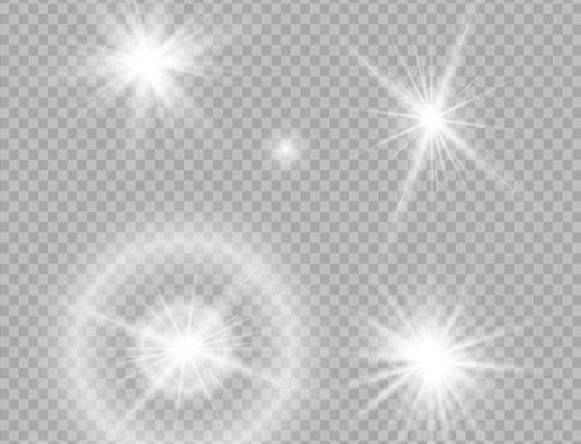 وکتور افکت های نوری بدون بکگراند
