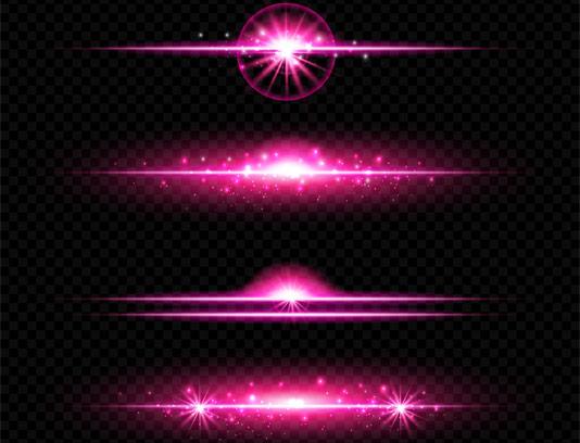 وکتور پرتوهای نوری صورتی