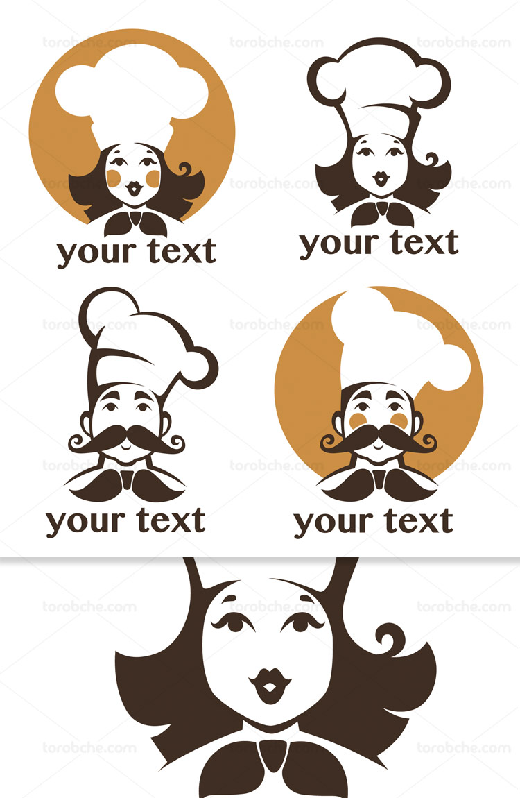 وکتور لوگوی خانم و آقای سرآشپز