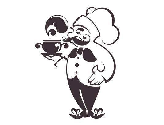 وکتور لوگوی سرآشپز مرد
