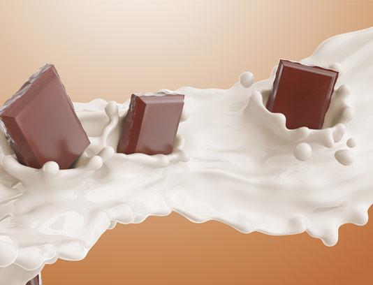 عکس با کیفیت شکلات شیری