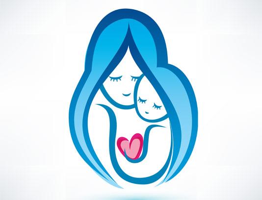 وکتور لوگو مادر و کودک