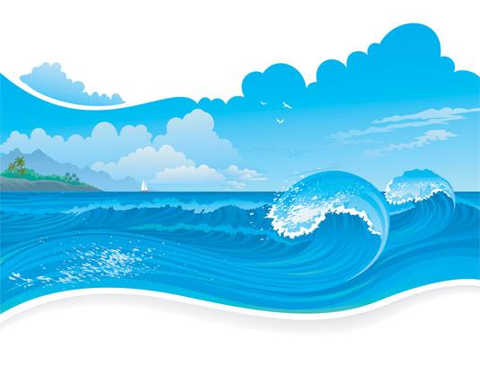 وکتور طرح بکگراند دریا