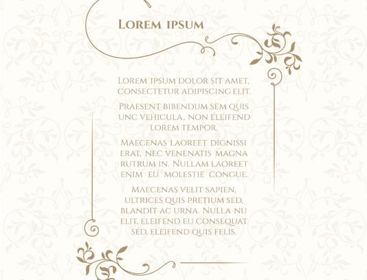 وکتور کادر و حاشیه کارت دعوت عروسی